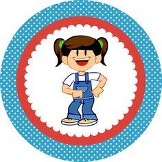 Topper cupcakes Galinnha Pintadinha - Cantinho do blog Layouts e Templates para Blogger