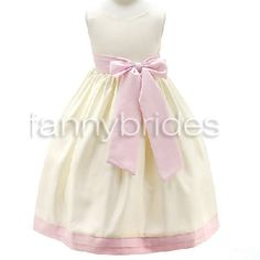 Cute Ball Gown Bateau Sleeveless Tea-length Two Bows and Ruffles Taffeta Flower Girl Dress - Fannybrides.com