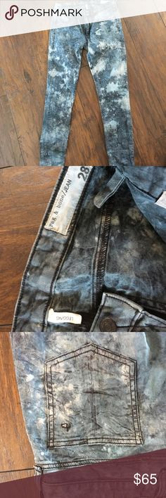 """Rag & bone tie dye camo jeans Thought I'd lose enough weight to get back into a 28 but I give up! Super cute tie dye camo """"legging"""" faux front pockets rag & bone Jeans Skinny"""