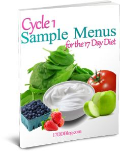 Get 5 days of FREE Cycle 1 Sample Menus delivered right to your inbox!