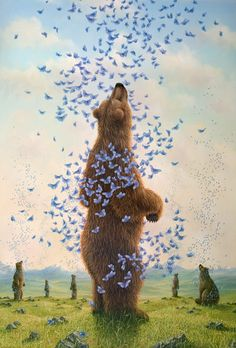 Video chat about Bears, Bunnies & Butterflies: Imaginative Paintings by Robert Bissell at https://createamixer.com/