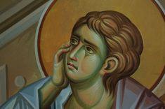 Iconographer Dimitris Maniatis – icoana Byzantine Icons, Byzantine Art, Roman Mythology, Greek Mythology, Archangel Raphael, Guardian Angels, Wedding Tattoos, Orthodox Icons, Angel Art