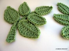Hojas crochet patron - Imagui