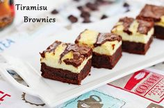 Tiramisu brownies  Ingredients  12 oz (Hershey's) chocolate chips 1 cup butter, softened 1 cup sugar 4 whole eggs 4 egg whites 1 cup (King Arthur Flour) cake flour* 1/4 cup (Nescafe) instant coffee granules/powder 16 oz Mascarpone cheese room temperature 1/4 cup sugar 4 egg whites 2 tsp vanilla extract