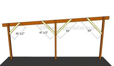 This step by step diy woodworking project is about how to build a flat roof carport. Learn how to make a carport with a flat roof out of wood. Diy Carport, 2 Car Carport, Carport Kits, Carport Plans, Double Carport, Shed Plans, Carport Ideas, Wooden Carports, Roofing Tools