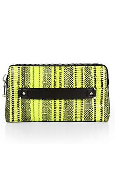 Milly Mercer Snakeskin Clutch, $102 (originally $255), available at Saks Fifth Avenue.
