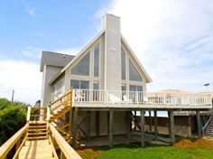 Westwind - Watch the Waves from the Oceanfront Deck. See the waves from the oceanfront deck of this new addition to the rental program. This comfortable, th. Folly Beach, Ideal Home, Beach House, Condo, Deck, Cabin, House Styles, Charleston Sc, Vacation Rentals