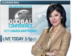 CNBC's Maria Bartiromo is at the Milken Institute Global Conference 2012, a conference that brings together the diverse worlds of business, finance, policy, education, health, energy and philanthropy to come up with fresh solutions to the globe's biggest challenges.