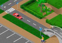 www.liikenneturva.fi Liikenneympäristö kuva, liittyy Jalankulkijan kortti - alakoulun liikenneturvaopetusta.