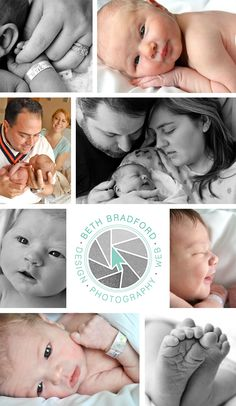Newborn in-hospital photography