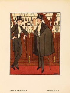 La cape noire by Gazette du Bon Ton - art print from King & McGaw