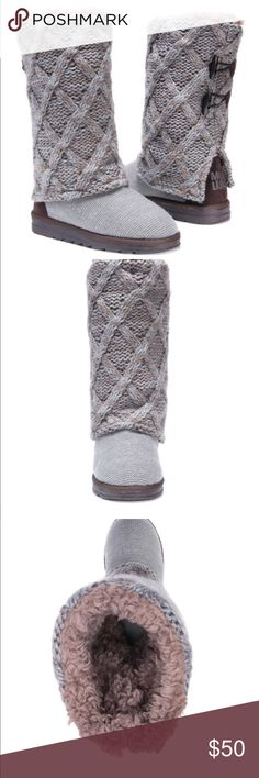 ⬇️Muk Luks Women's gray Shawna boots size 10 NWT New with tags Muk Luks size 10 grey Shawna boots Water resistant  Winter boots Muk Luks Shoes Winter & Rain Boots