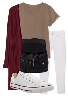"""school summer outfit"" by rabiamiah on Polyvore featuring MANGO, Violeta by Mango and Converse"