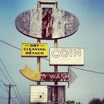 """Coin"" Vintage Sign, Clinton TN"