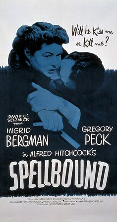 Directed by Alfred Hitchcock.  With Ingrid Bergman, Gregory Peck, Michael Chekhov, Leo G. Carroll. A psychiatrist protects the identity of an amnesia patient accused of murder while attempting to recover his memory.