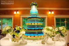 Rick's Bakery Wedding Cake and Cupcakes - Portraits by Trinity Ridge Photography www.trinityridge.com