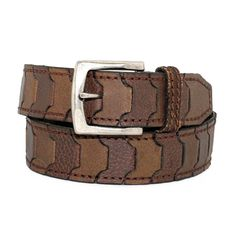 - Toneka Men's Casual Steampunk Two Tone Link Leather Belt - Brown Leather Tool Belt, Leather Tooling, Casual Steampunk, Leather Diy Crafts, Branded Belts, Belt Buckles, Men Casual, Mens Fashion, Brown