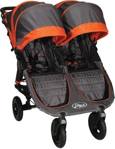 Baby Jogger City Mini GT Double 2013 Stroller Shadow / Orange.....ordered this today!