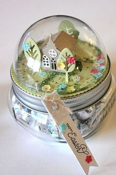 petite places Happy Easter Jar Topper by Heather Nichols for Papertrey Ink (February Easter Jar Topper by Heather Nichols for Papertrey Ink (February Christmas Projects, Holiday Crafts, Christmas Crafts, Jar Crafts, Easter Crafts, Mason Jar Gifts, Craft Fairs, Craft Gifts, Little Gifts