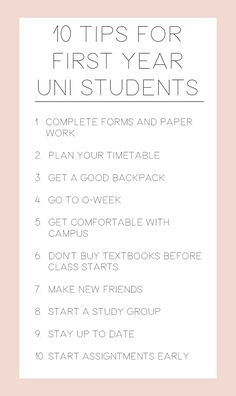 Heading to university soon? // 10 tips for first year uni students
