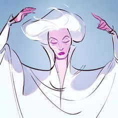 Carmen dell'Orefice is one of my favorite muses~ drawn from an editorial shoot she did.