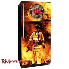 Custom design Fire department refrigerator wrap. Do you want your Logo or  names on the wrap?