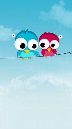 Cute Twitter Birds Wallpaper for iPhone 5