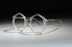 liver Goldsmith created this glasses frame, titled 'Polygon', in 1971, the year that Britain converted its currency to the decimal system. The company registered the design, and received much publicity for its unusual and timely 50-pence shape.