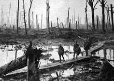 Op 1 juli 1916 werden de Duitse loopgraven bij de Somme met kanonnen bestookt.  De Engelsen werden meteen door de Duitsers met mitrailleurs bestookt. 60.000 Britten sneuvelden op één dag. In september kwamen ze met een nieuw wapen: de tank. Met veel moeite wonnen ze twee kilometer terrein. Een paar maanden later zorgden enorme stortbuien ervoor, dat de Slag aan de Somme eindigde. De grond was veranderd in een moeras en wie nog leefde, was uitgeput.