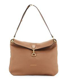 Cornwall Medium Derby Shoulder Bag, Dark Sand, Women's - Burberry
