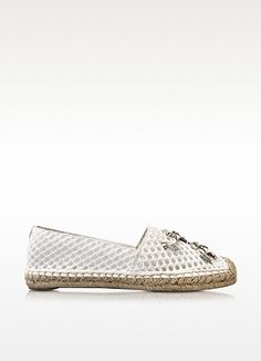 Rosas White Leather Embellished A-Line Espadrille - Tory Burch