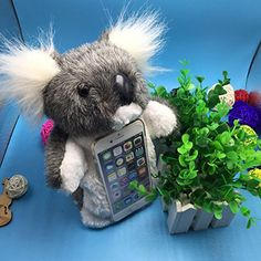 Iphone 6 Plus Case Iphone 6S Plus Case Crazy Panda Lovely Stuffed Toy Case Cute 3D Doll Toy Plush Cell Phone Case Protective Cover for iPhone 6 Plus  6S Plus Hand Puppet Stand Case  Koala ** Read more reviews of the product by visiting the link on the image.