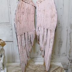 Large wooden wings soft blush pink with hints by AnitaSperoDesign, $210.00