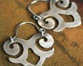 maya earrings sterling silver