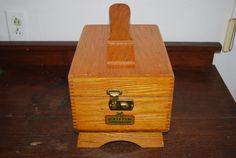 Vintage Griffin Shinemaster Wooden Shoe Shine Box W/ Accessories - Midcentury
