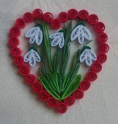 evaline / Valentínske srdiečko - snežienky