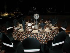 Cheetah Print Party Theme | Posh Design- Linen Party Rentals, Wedding Linen, Chair Covers