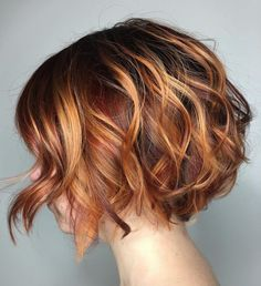 60 Best Short Bob Haircuts and Hairstyles for Women - Two-Tone Wavy Bob Source . - 60 Best Short Bob Haircuts and Hairstyles for Women – Two-Tone Wavy Bob Source by anitasollars – Bob Haircuts For Women, Short Bob Haircuts, Haircut Short, Hairstyle Short, Curly Hair Bob Haircut, Page Haircut, Red Bob Haircut, Bob Haircut 2018, French Haircut