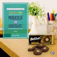 Biscoito Fino de Maracujá com Chocolate - Belive