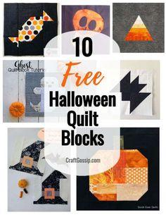 Halloween Quilt Patterns, Halloween Blocks, Halloween Sewing Projects, Halloween Quilts, Halloween Crafts, Spooky Halloween, Diy Projects, Halloween Decorations, Halloween Items