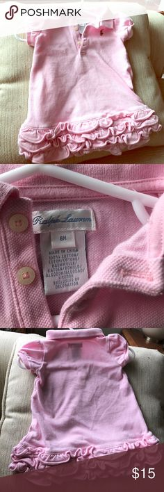 Ralph Lauren Pink Ruffle Dress for Baby Excellent condition. No rips, stains, or snags. Non-smoking home. No off-posh offers, please. Check out my closet to combine items for discount! Thanks! Ralph Lauren Dresses Casual