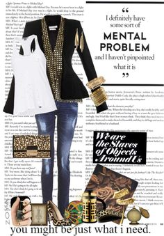 """""""I ain't sayin' she's a gold digger..."""" by dotgirl ❤ liked on Polyvore"""