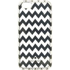 Kate Spade New York Chevron Clear Phone Case for iPhone 5 ($33) ❤ liked on Polyvore featuring accessories, tech accessories, gold and kate spade