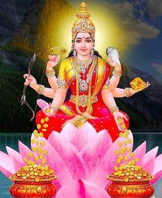 Goddess Ashtalakshmi is a deity of eight forms of Goddess Lakshmi, a supreme power of wealth, prosperity and good luck. Lord Vishnu the protector is the consort of Goddess Lakshmi and divine mother of all well-being. Lakshmi Photos, Lakshmi Images, Lord Ganesha, Lord Shiva, Lord Vishnu, Saraswati Goddess, Saraswati Photo, Diwali Pooja, Jai Hanuman
