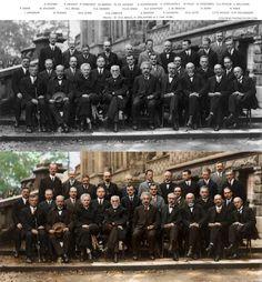 Icônica fotografia de 85 anos com cientistas consagrados recebe cores