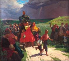С Победой! (Встреча героя). 1947. Х., м. 163х209. (ИОХМ им. В.П. Сукачёва)..jpg