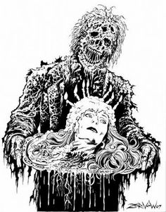 Creepshow artwork featuring Carrie Nye's character