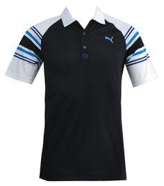 4ba82ba0522c Golf Novelty Tech Polo - Black Blue Aster