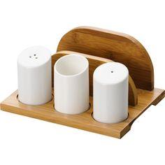 Kit Para Cozinha Com Suporte Bamboo Edu Guedes