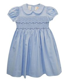 Look what I found on #zulily! Light Blue Smocked A-Line Dress - Infant, Toddler & Girls #zulilyfinds